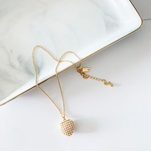 Kate Spade Pearl Heart Pendant Necklace